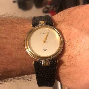 Gucci Watch with Genuine Lizard skin band